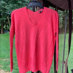 4/$25 hot pink Express cut out sweater sz small